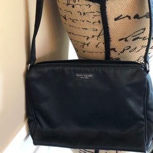 Kate Spade handbag & wallet black nylon